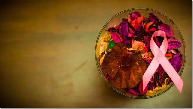 Pink ribbon bowl